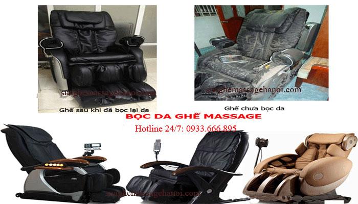bọc da ghế massage tại nhà